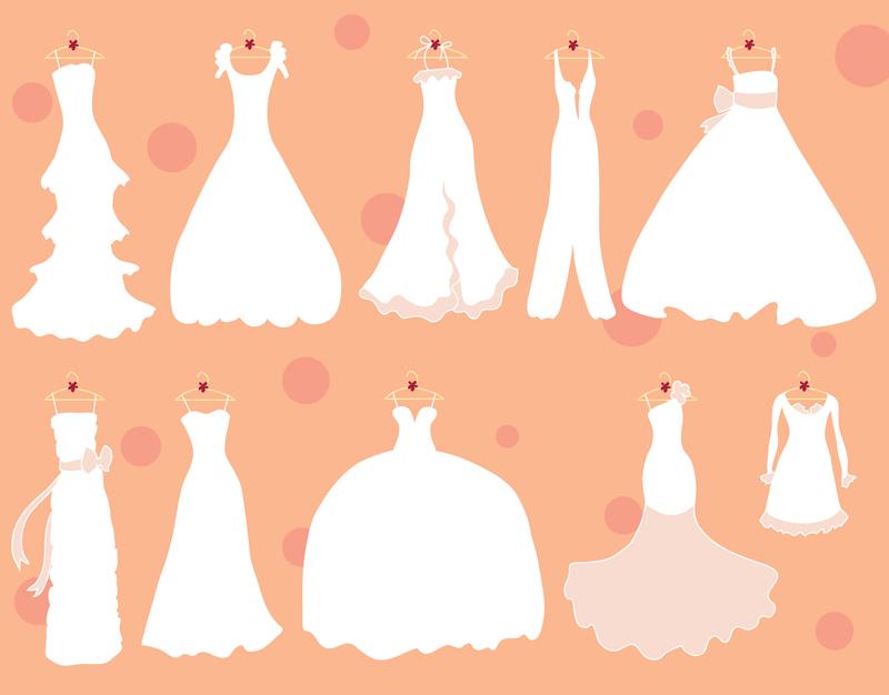 rochii albe pe fundal portocaliu